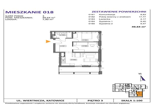Rzut Słoneczne Apartamenty - WIERTNICZA_M018
