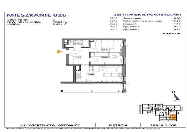 Rzut Słoneczne Apartamenty - WIERTNICZA_M026