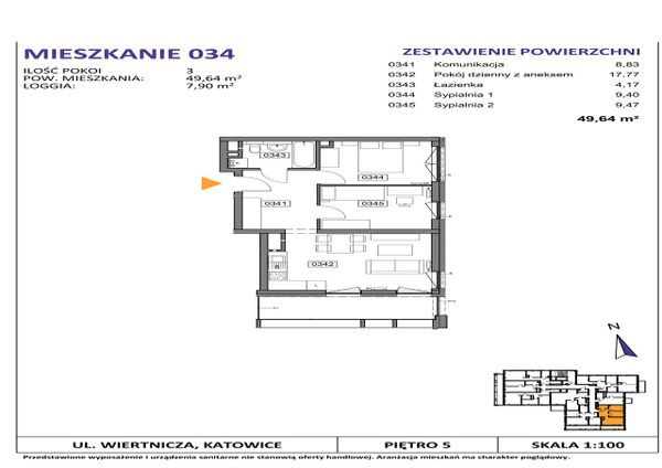 Rzut Słoneczne Apartamenty - WIERTNICZA_M034