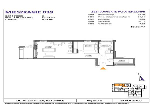 Rzut Słoneczne Apartamenty - WIERTNICZA_M039