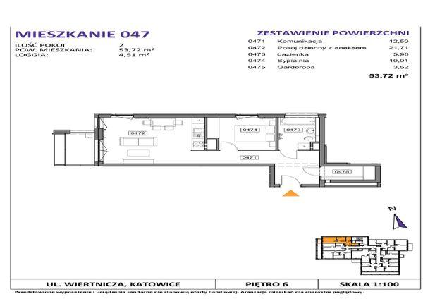 Rzut Słoneczne Apartamenty - WIERTNICZA_M047