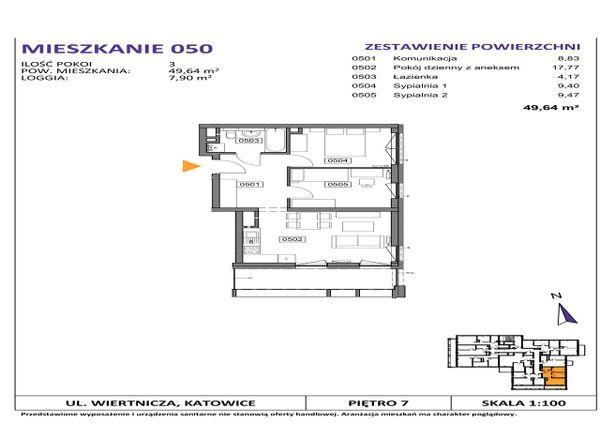 Rzut Słoneczne Apartamenty - WIERTNICZA_M050