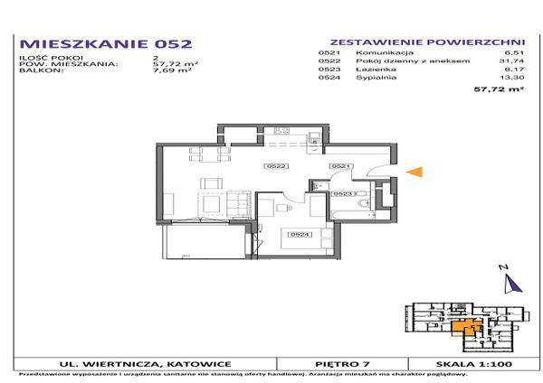 Rzut Słoneczne Apartamenty - WIERTNICZA_M052