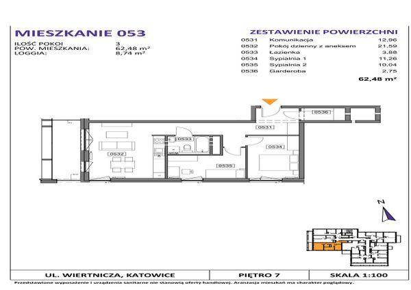 Rzut Słoneczne Apartamenty - WIERTNICZA_M053