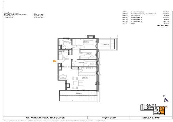 Rzut Słoneczne Apartamenty - WIERTNICZA_M071