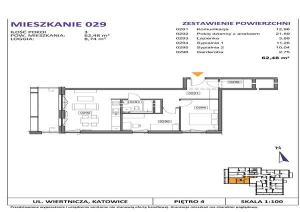 Rzut Słoneczne Apartamenty - WIERTNICZA_M029