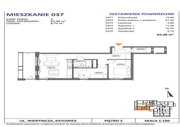 Rzut Słoneczne Apartamenty - WIERTNICZA_M037