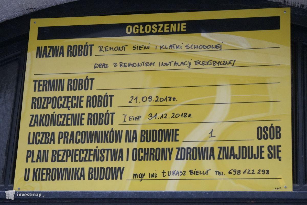 Zdjęcie Remont Kamienicy, ul. Św. Tomasza 27 fot. Damian Daraż