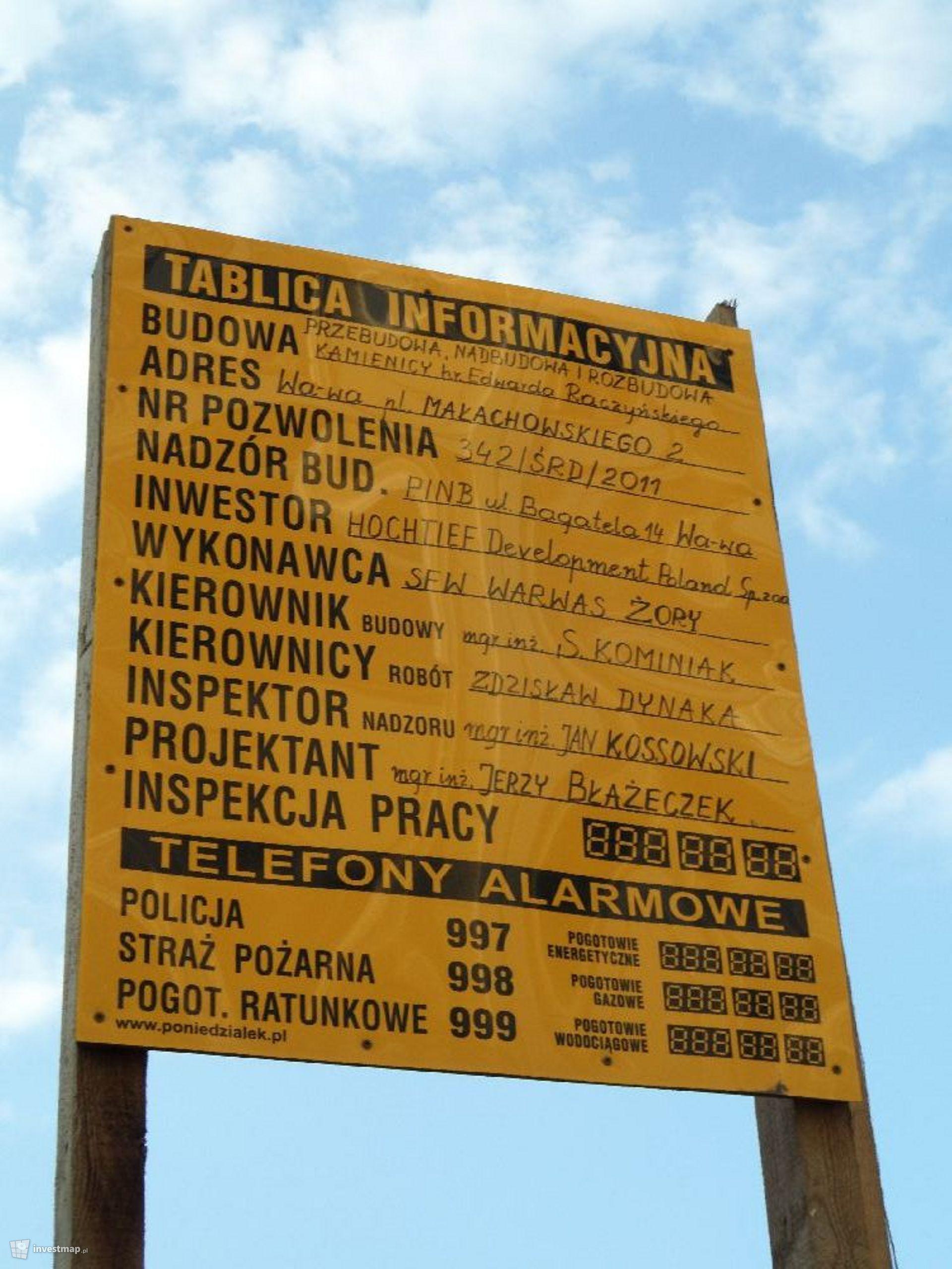 Kamienica Raczyńskiego, Plac Małachowskiego 2