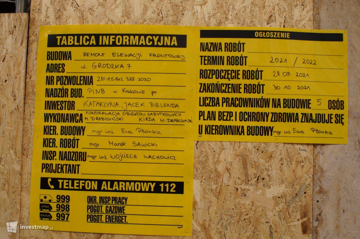 Zdjęcie Remont Kamienicy, ul. Grodzka 7 fot. Damian Daraż