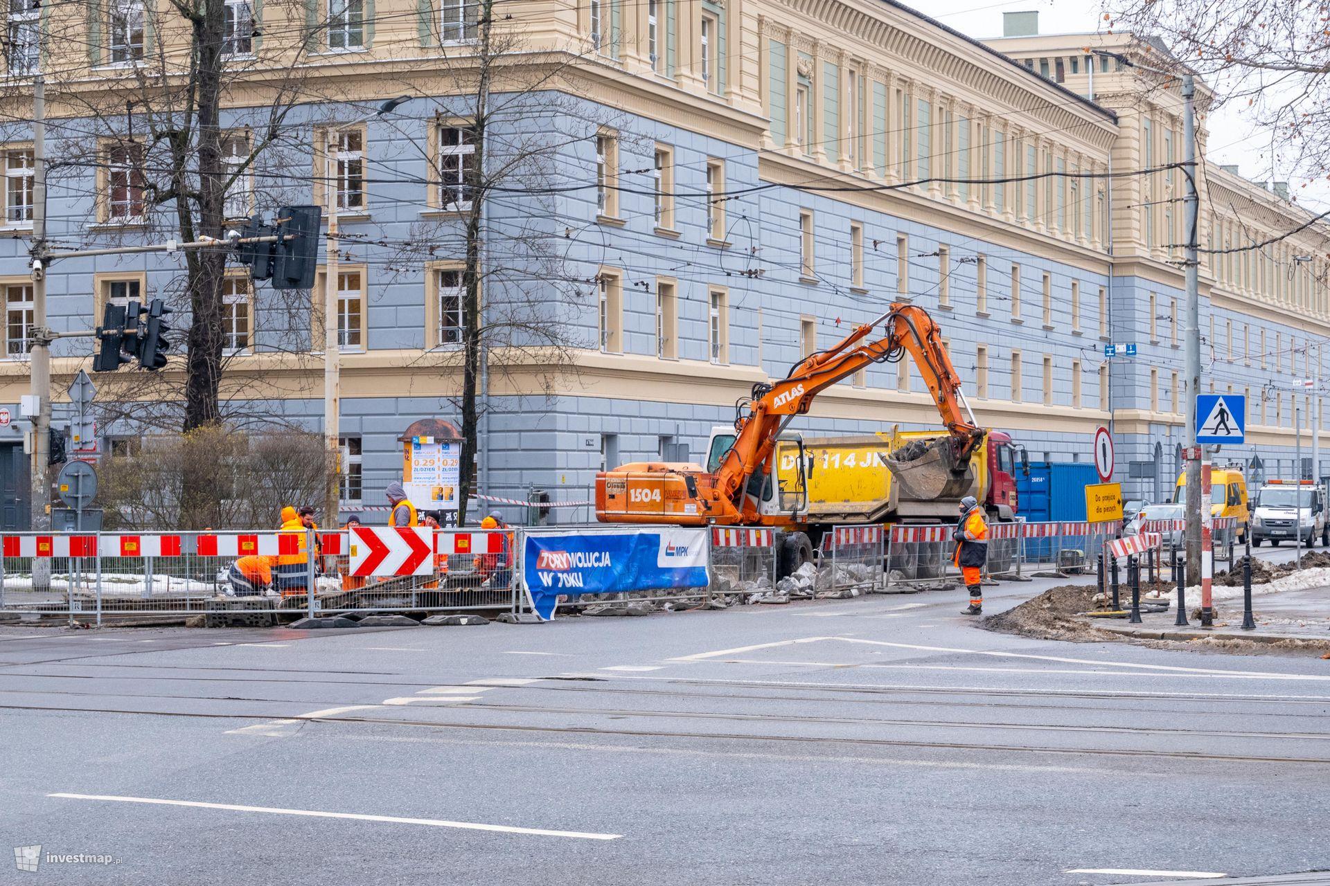 Remont rozjazdu tramwajowego Krupnicza Podwale