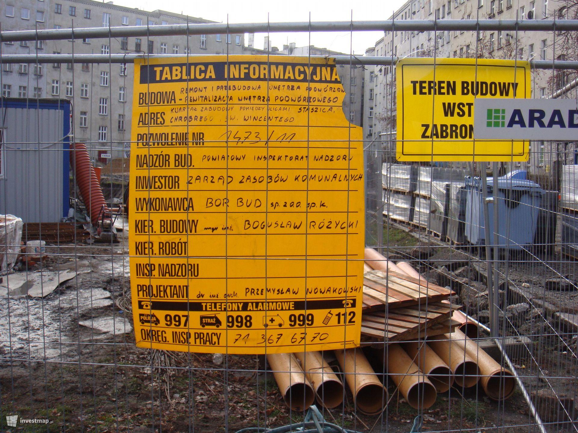 Rewitalizacja wnętrza podwórzowego św. Wincentego, Chrobrego, Staszica