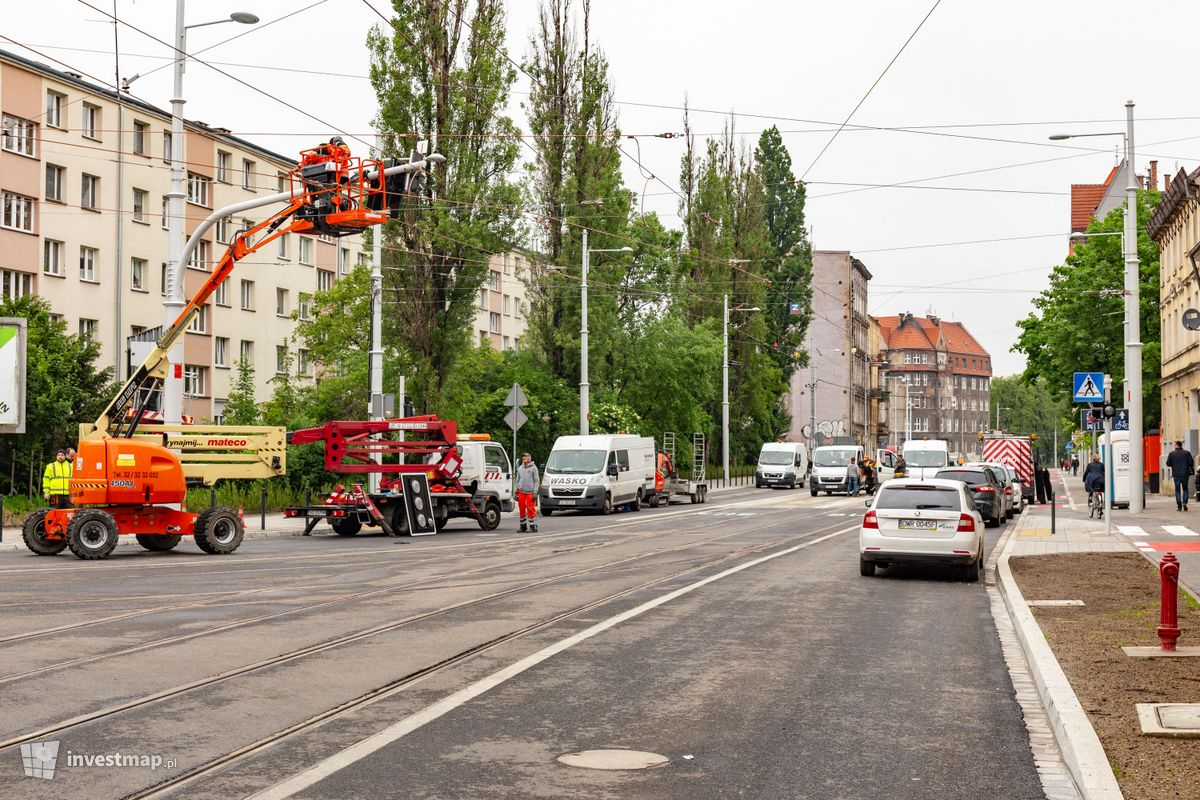 Zdjęcie Trasa tramwajowa wzdłuż ulicy Hubskiej fot. Jakub Zazula