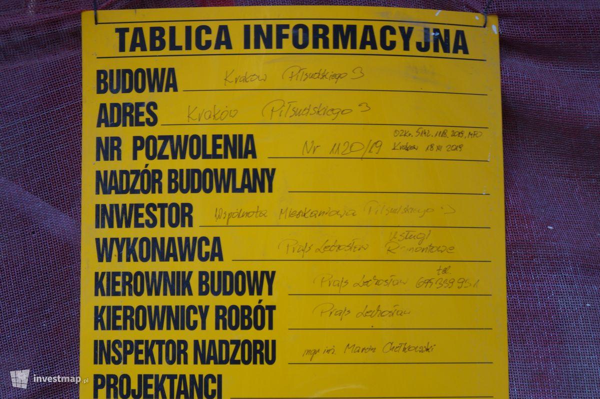 Zdjęcie Remont Kamienicy, ul. Piłsudskiego 3 fot. Damian Daraż