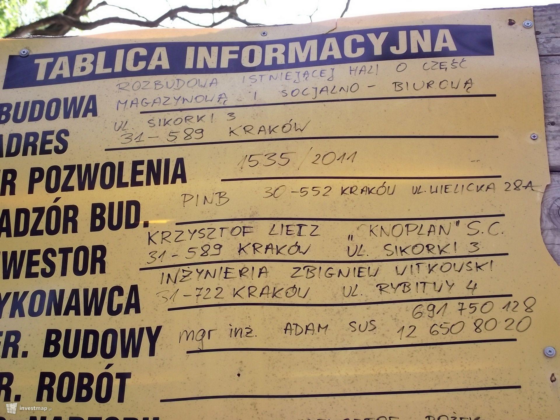 Hala Magazynowo - Biurowa Ul. Sikorki  3