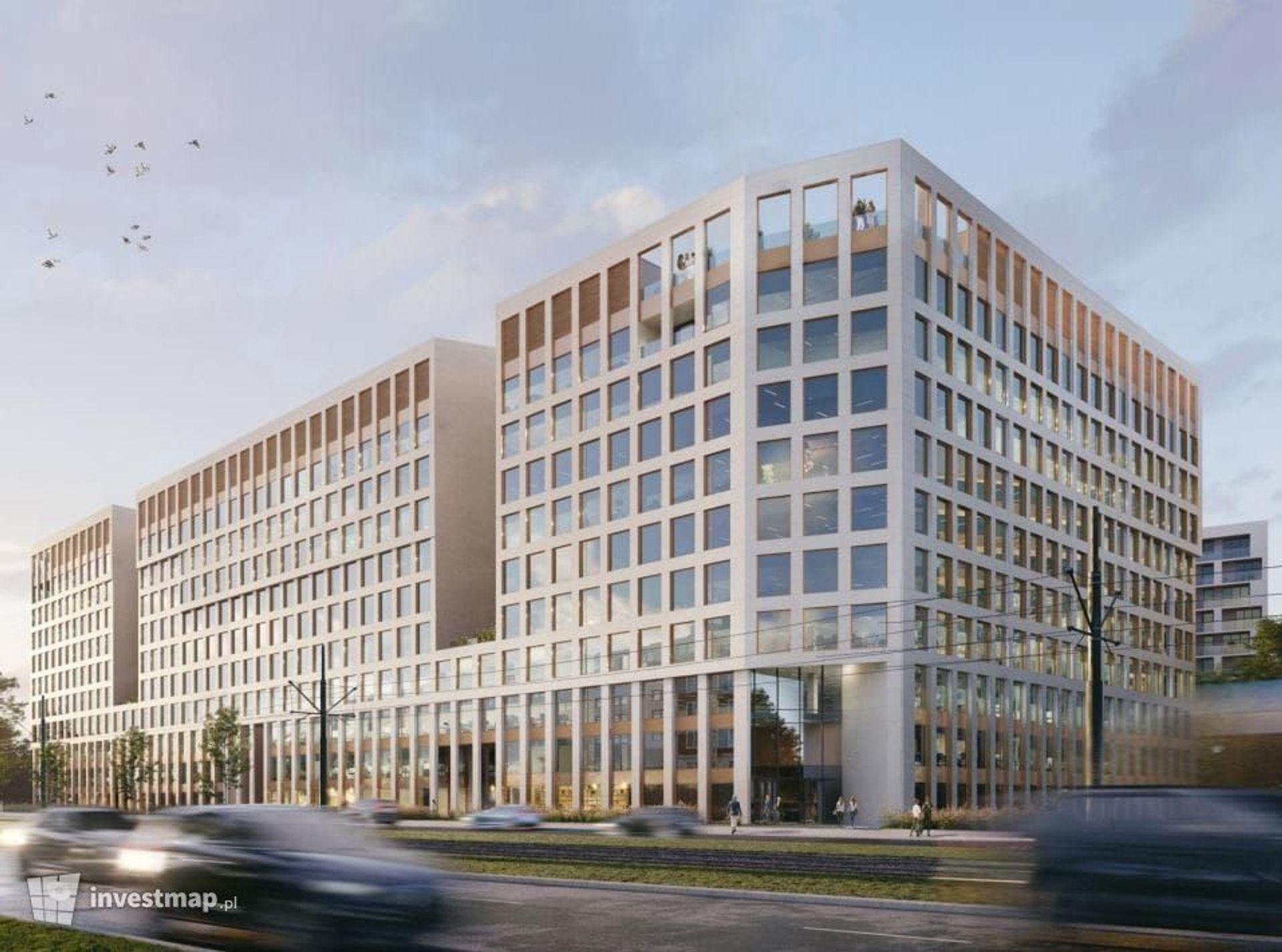 W Krakowie trwa budowa nowego kompleksu biurowego Brain Park [ZDJĘCIA + WIZUALIZACJE]