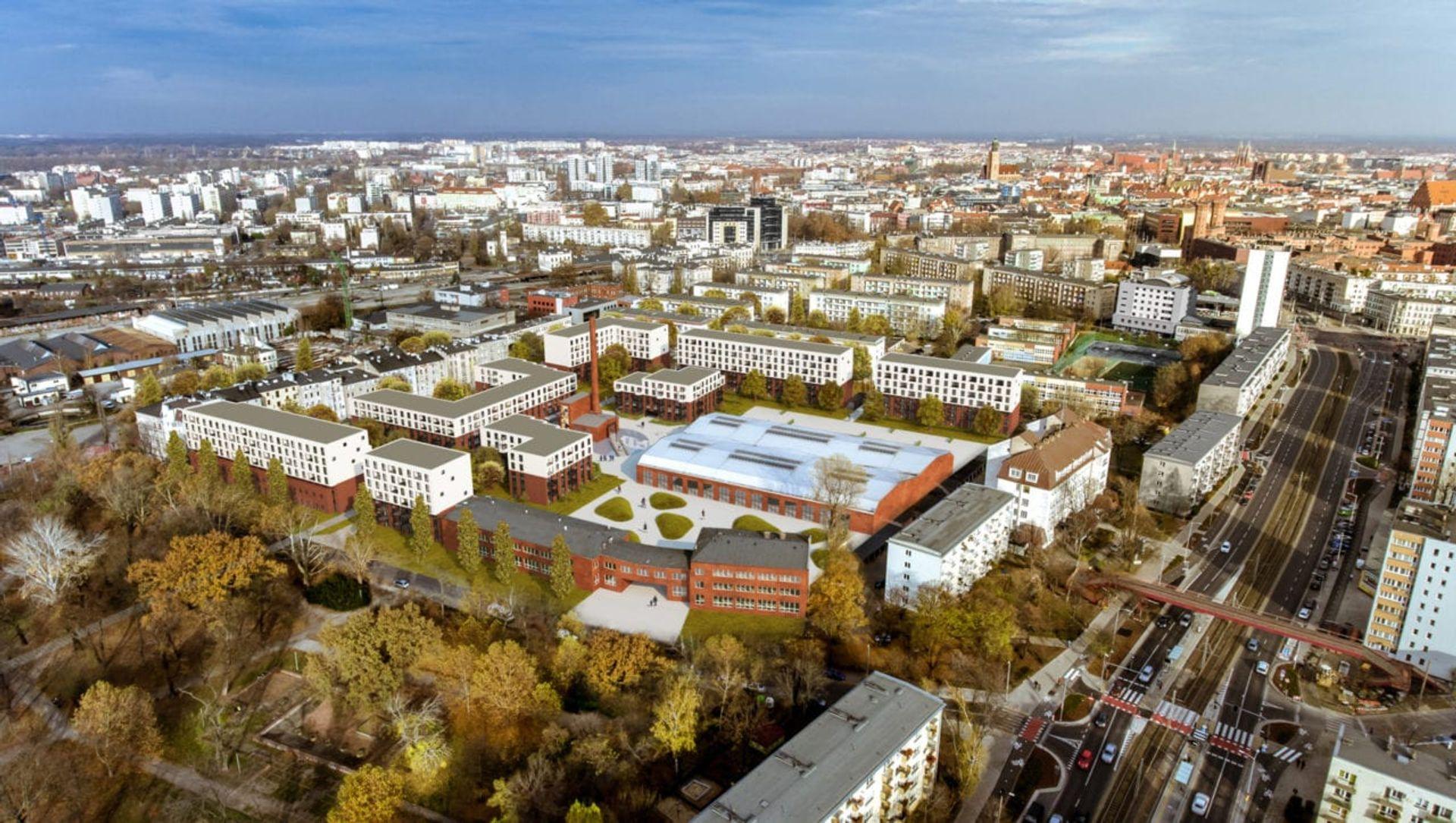 We Wrocławiu trwa budowa pierwszego osiedla w ramach programu Mieszkanie Plus [ZDJĘCIA + WIZUALIZACJE]