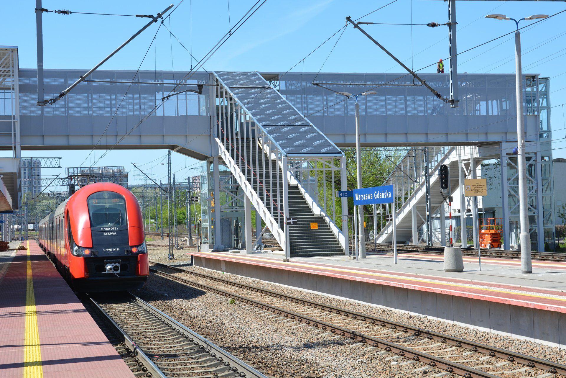 Trwa modernizacja stacji kolejowej Warszawa Gdańska