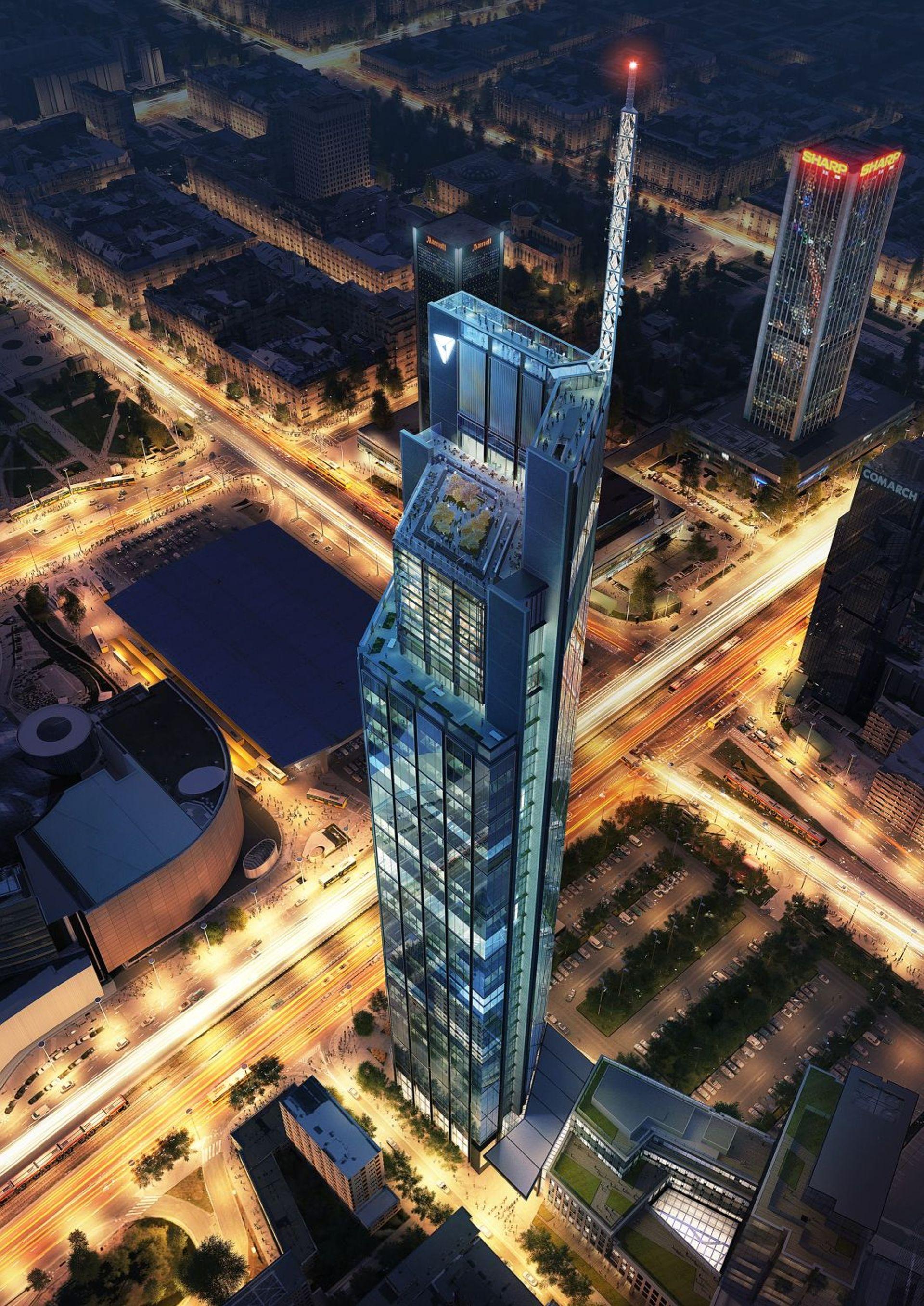 W Warszawie powstaje najwyższy budynek w Unii Europejskiej [FILM]