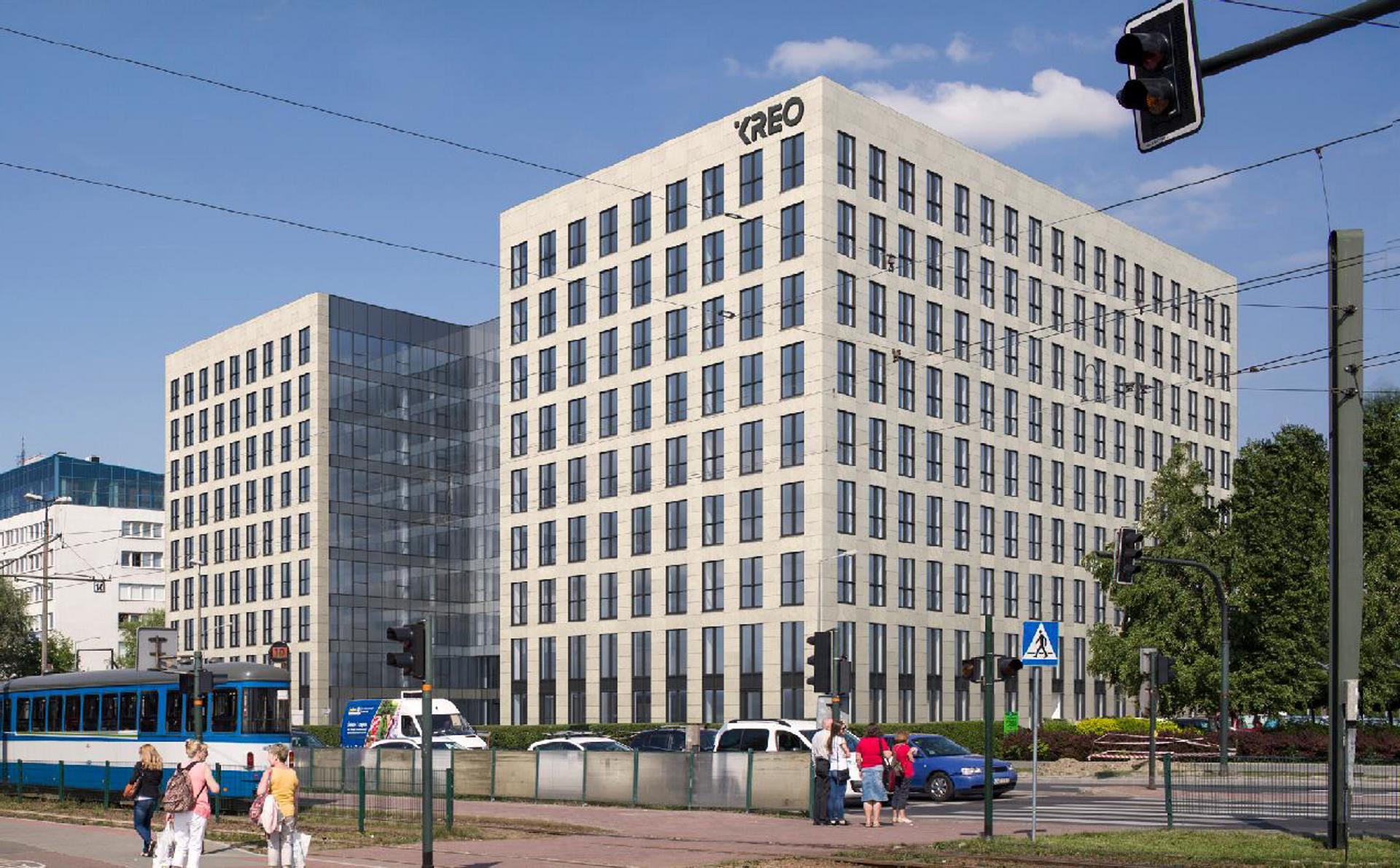 W Krakowie trwa budowa biurowca KREO [ZDJĘCIA + WIZUALIZACJE]