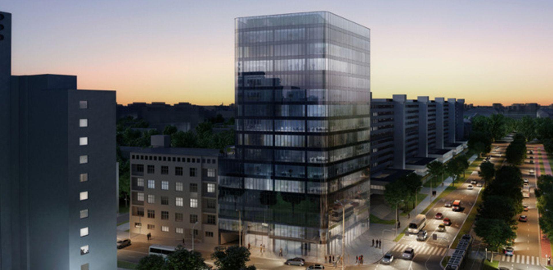 [Wrocław] Naprzeciwko Sky Tower stanie 14-piętrowy biurowiec. Tak ma wyglądać [WIZUALIZACJE]