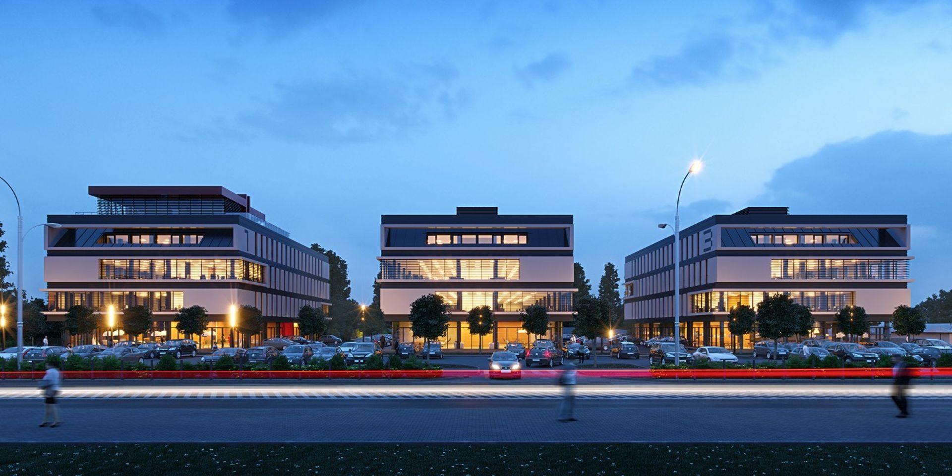 [Wrocław] Nowy kompleks biurowy rośnie przy Zwycięskiej. Tak będzie wyglądać Award Business Park [WIZUALIZACJE]