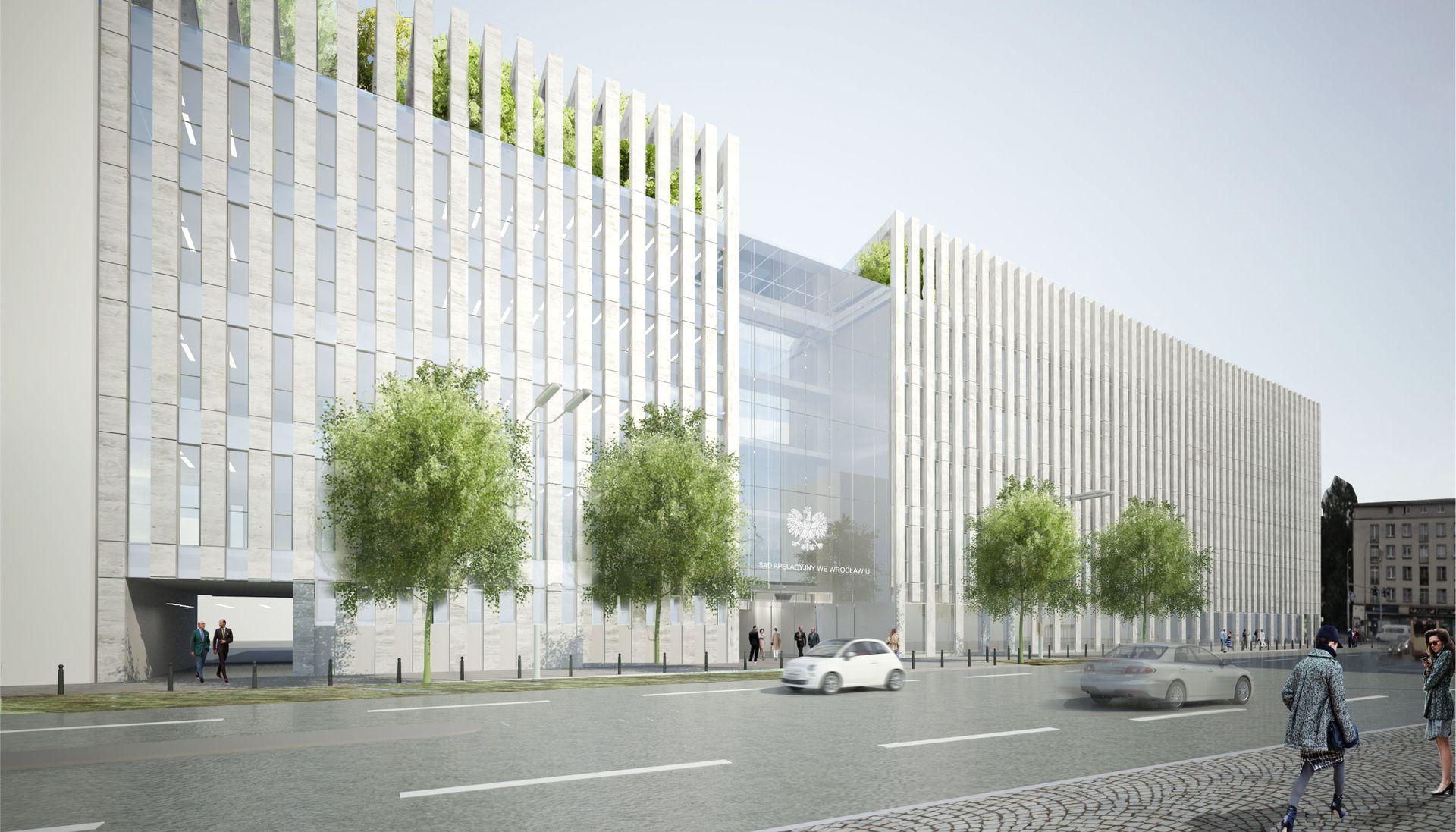 W centrum Wrocławia ruszyła budowa nowej siedziby Sądu Apelacyjnego [ZDJĘCIA + WIZUALIZACJE]