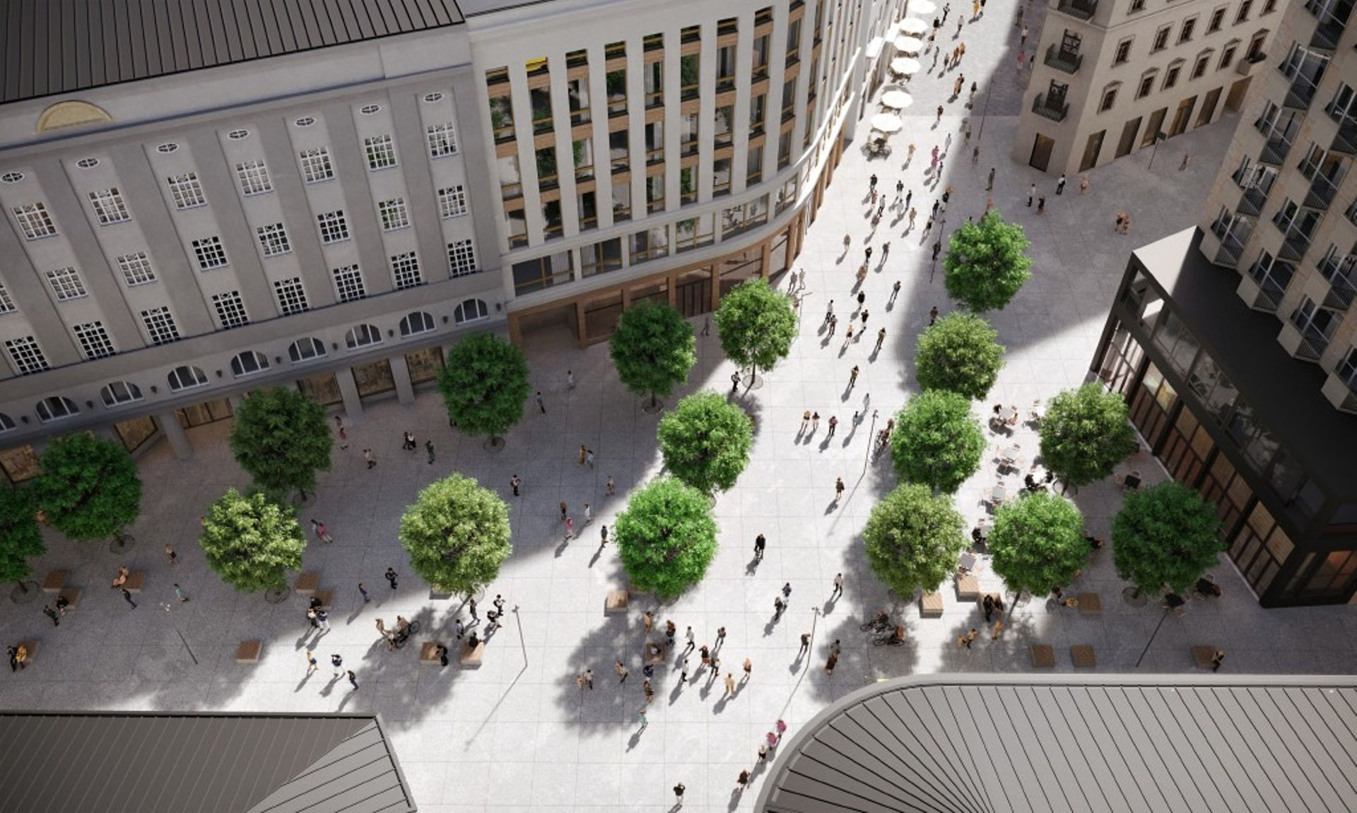 Deptak na warszawskim śródmieściu – czeka na lepszą pogodę