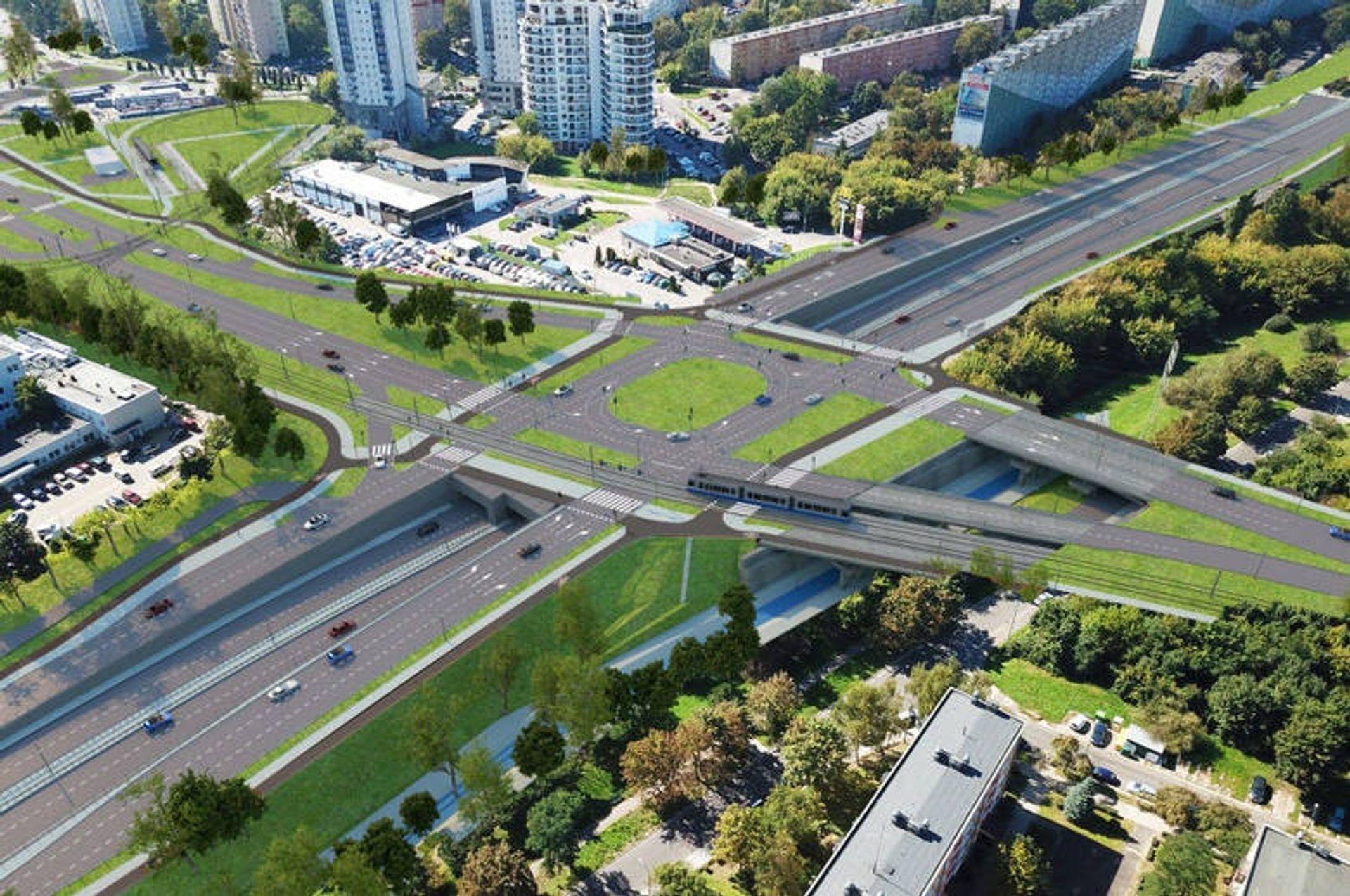 W Krakowie trwa budowa trasy tramwajowej na Górkę Narodową
