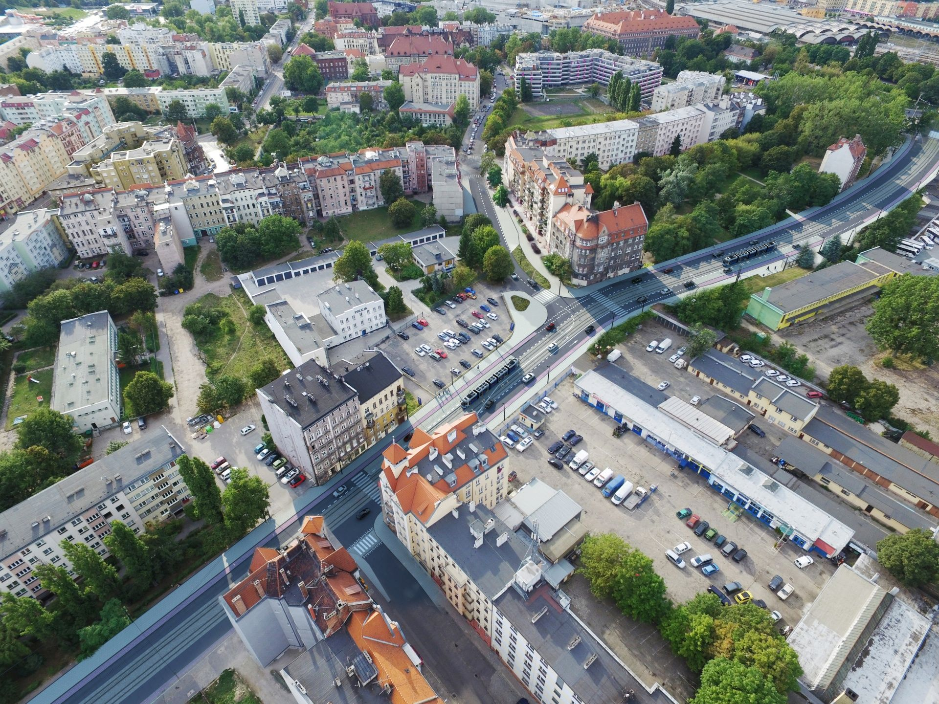 [Wrocław] Jest nowy przetarg na budowę trasy tramwajowej wzdłuż Hubskiej. Inwestycja opóźni się