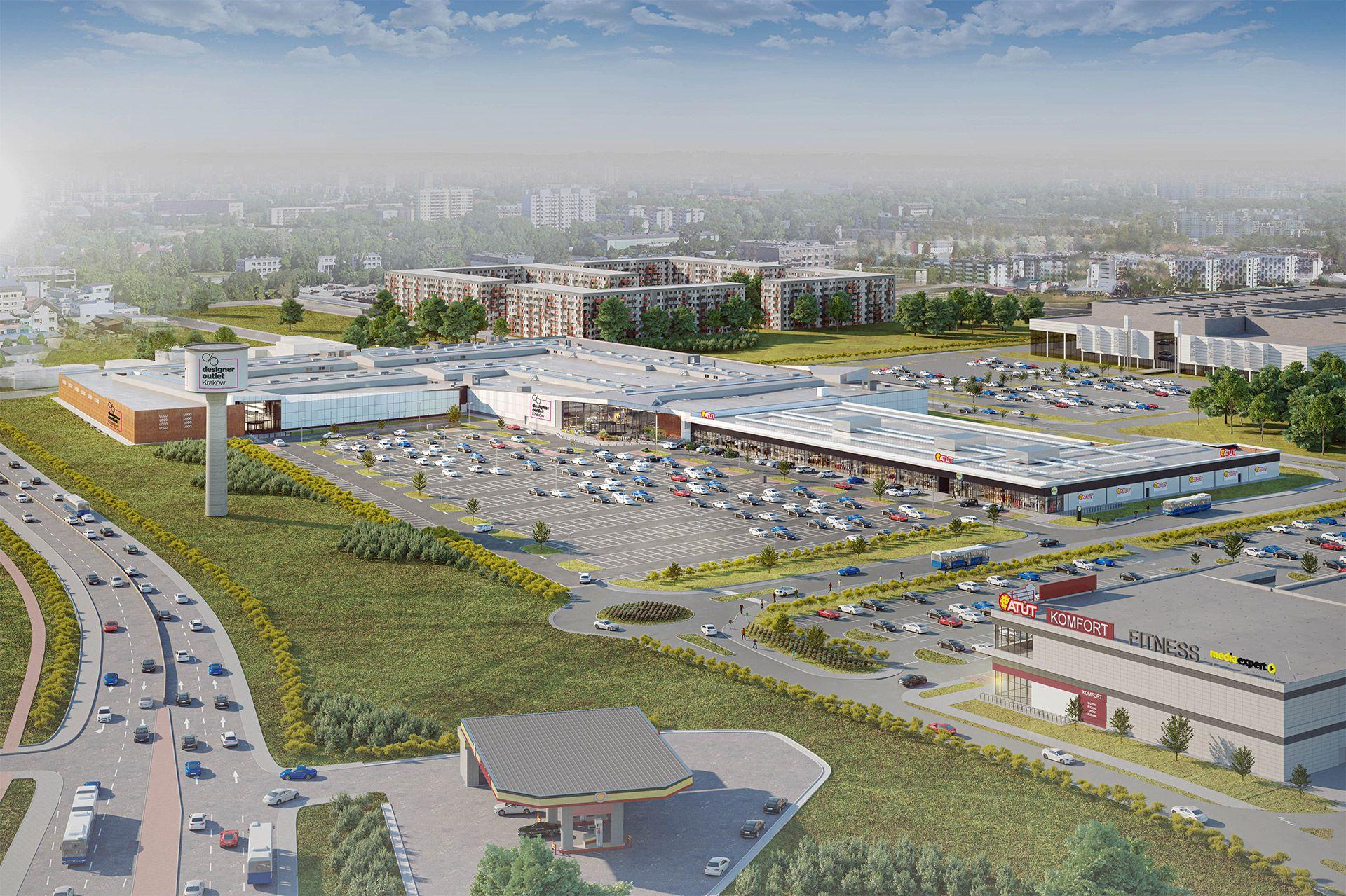 W Krakowie ruszyła budowa wielkiego kompleksu handlowego przy ulicy Nowohuckiej [ZDJĘCIA + WIZUALIZACJE]