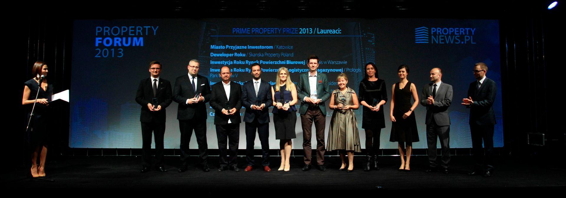 [Katowice] Nagrody Prime Property Prize wręczone podczas Property Forum 2013