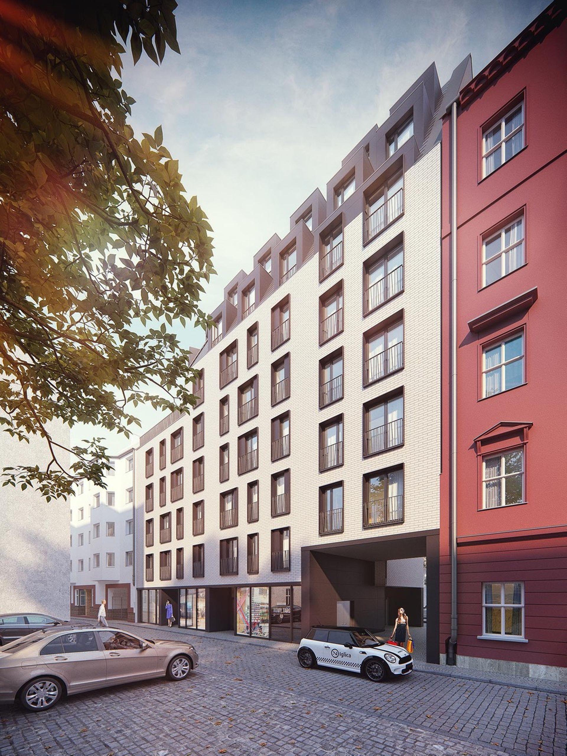 Wrocław: Nowy Targ – Castellum buduje apartamentowiec z ponadstumetrowym penthousem w ścisłym centrum