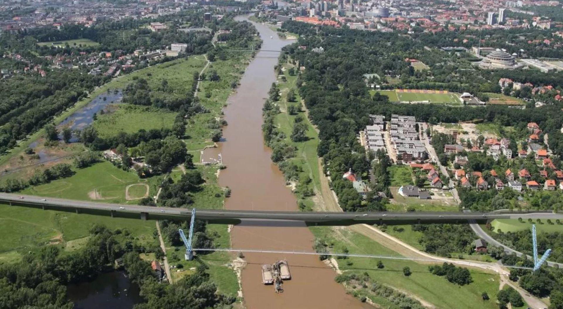 Wrocław: Ruszyła budowa Alei Wielkiej Wyspy i nowych mostów nad Odrą i Oławą [ZDJĘCIA + WIZUALIZACJE]