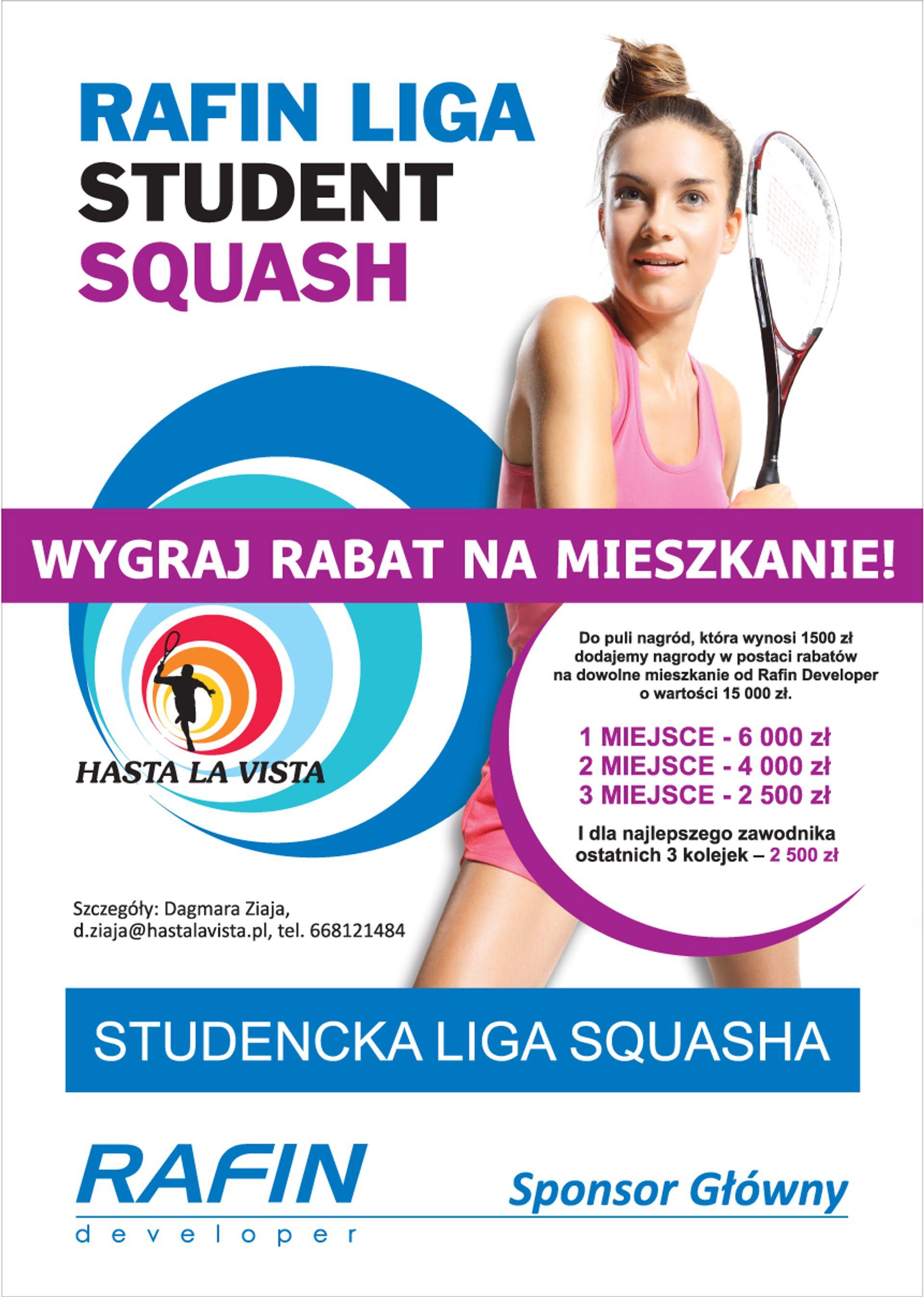 [Wrocław] Rafin Liga Student największa studencka liga squasha we Wrocławiu wchodzi w decydującą fazę