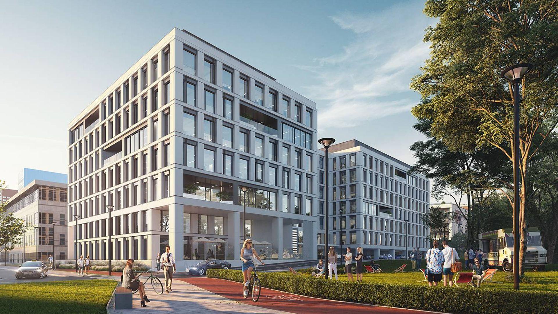 Łódź: Echo Investment zbliża się do ukończenia biurowca React [FILM]