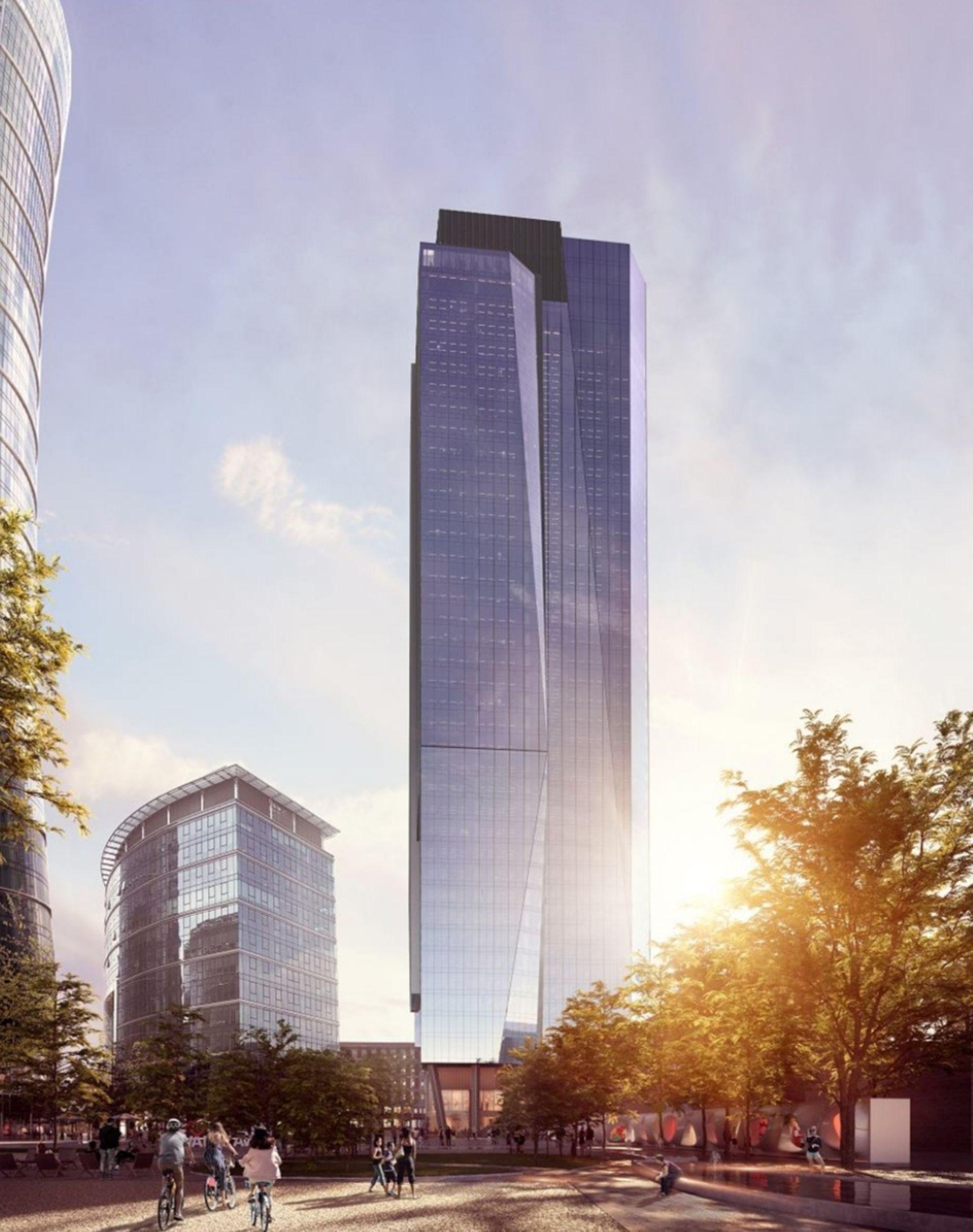Warszawa: Trwa budowa 174-metrowego wieżowca The Bridge [FILM + WIZUALIZACJE]