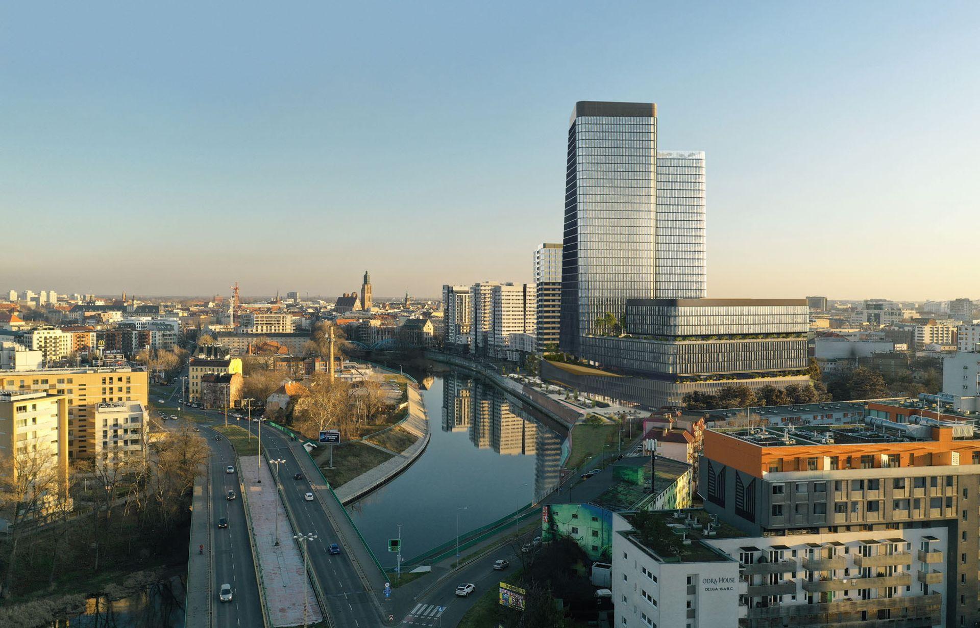 Wrocław: Przy ulicy Sikorskiego powstaje 73 metrowy wieżowiec Quorum [ZDJĘCIA + WIZUALIZACJE]