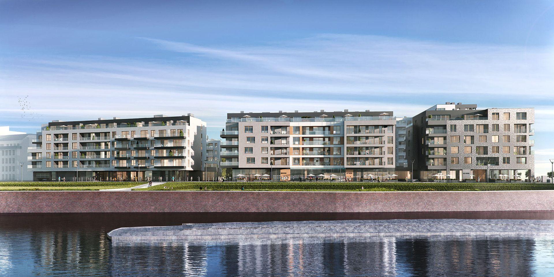 Prawie 200 mieszkań i pasaż handlowy przy Księcia Witolda. Tak będzie wyglądać drugi etap Bulwarów Książęcych