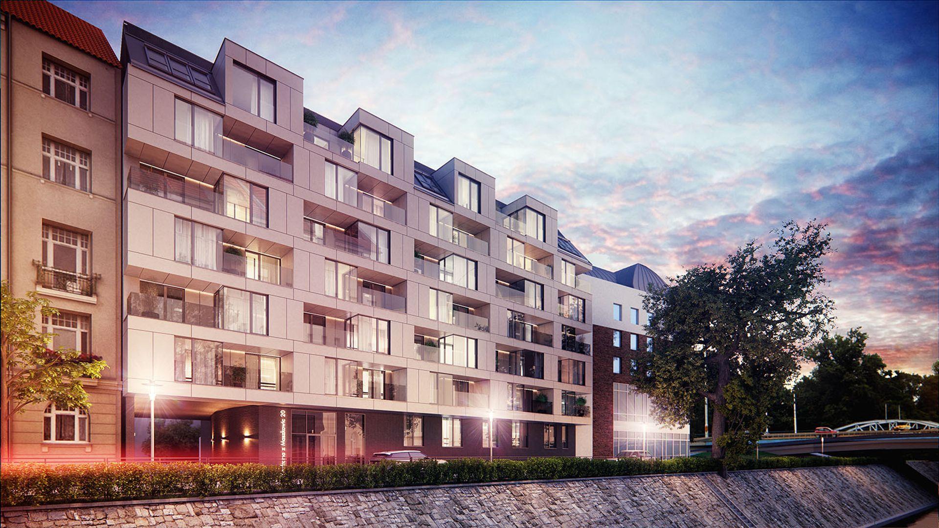 [Wrocław] Kolejna inwestycja na Kępie Mieszczańskiej. Stanie tam apartamentowiec [WIZUALIZACJE]