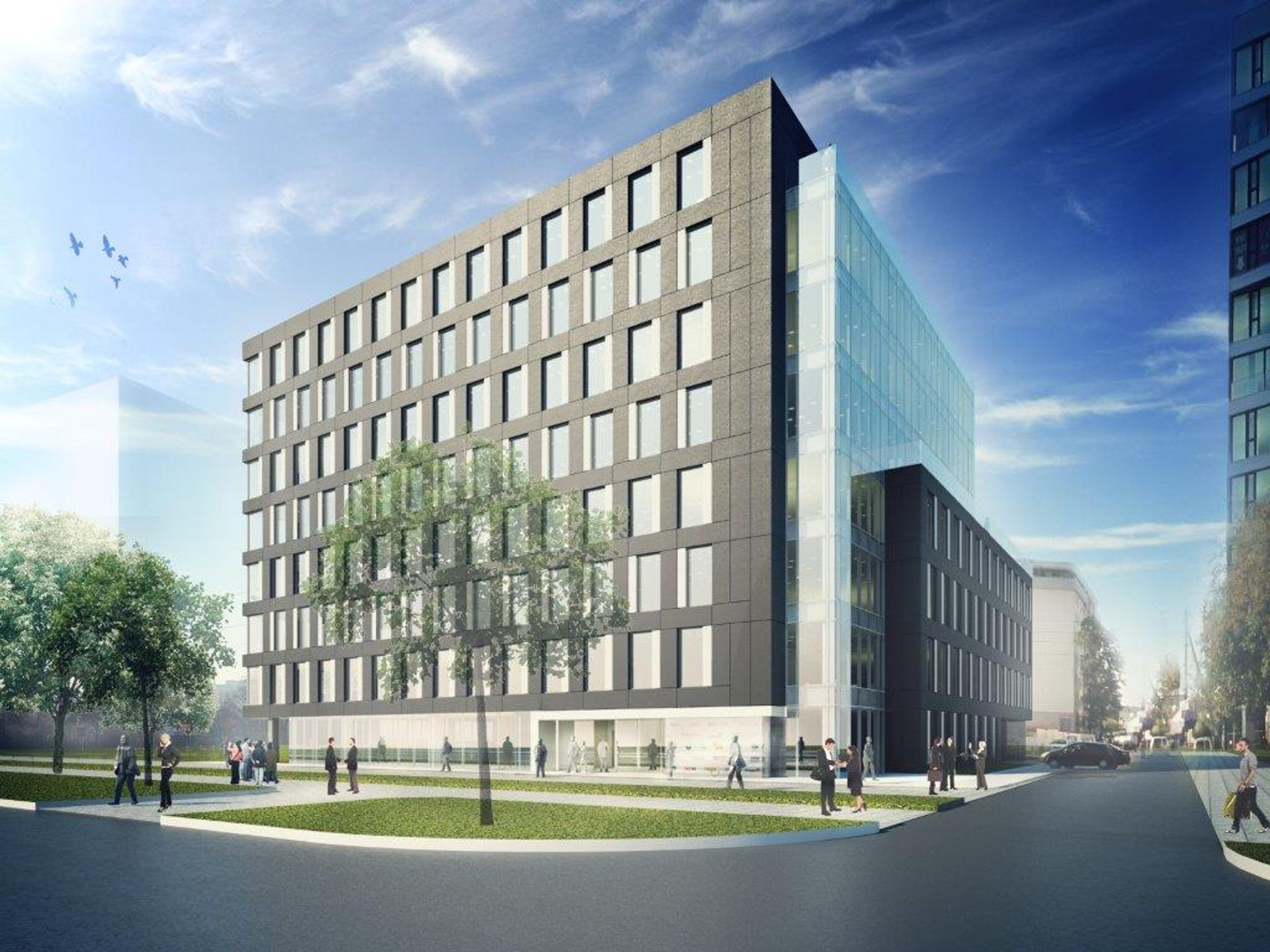 [Warszawa] OKRE Grójecka Offices ma pozwolenie na budowę