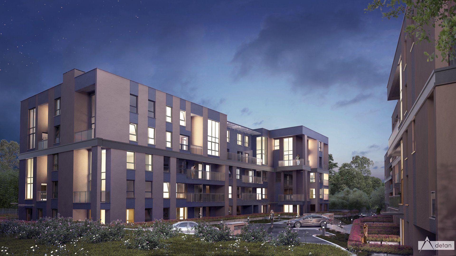 Kraków: Okulickiego-Fatimska – HSD buduje w Bieńczycach ponad 100 mieszkań, w tym dwupoziomowe [NOWE WIZUALIZACJE]
