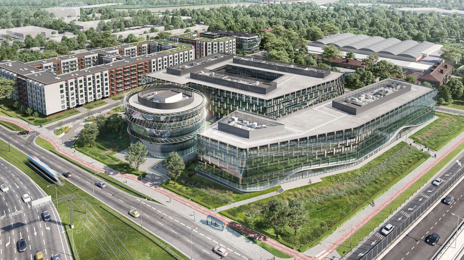 W Krakowie trwa budowa drugiego biurowca w kompleksie Ocean Office Park
