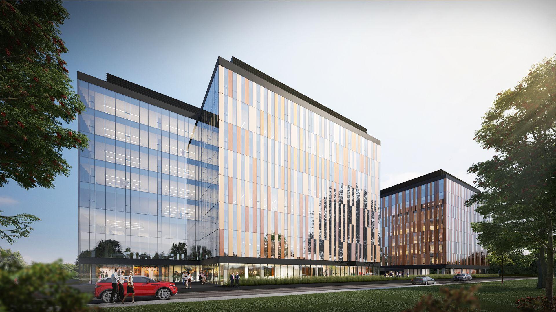 [Wrocław] Cu Office. Przy Jaworskiej powstaje kompleks biurowy [WIZUALIZACJA]