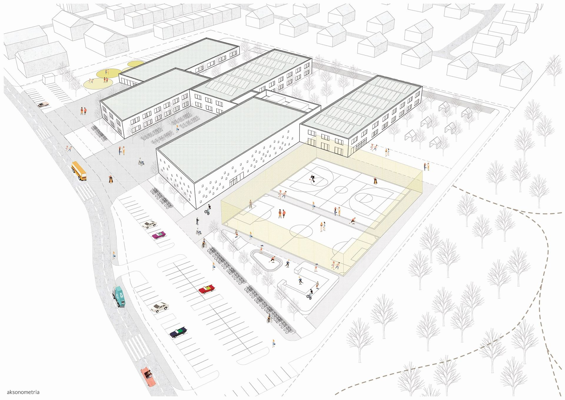 Miasto ogłasza przetarg na budowę nowego kompleksu szkolno-przedszkolnego na granicy Jagodna i Wojszyc