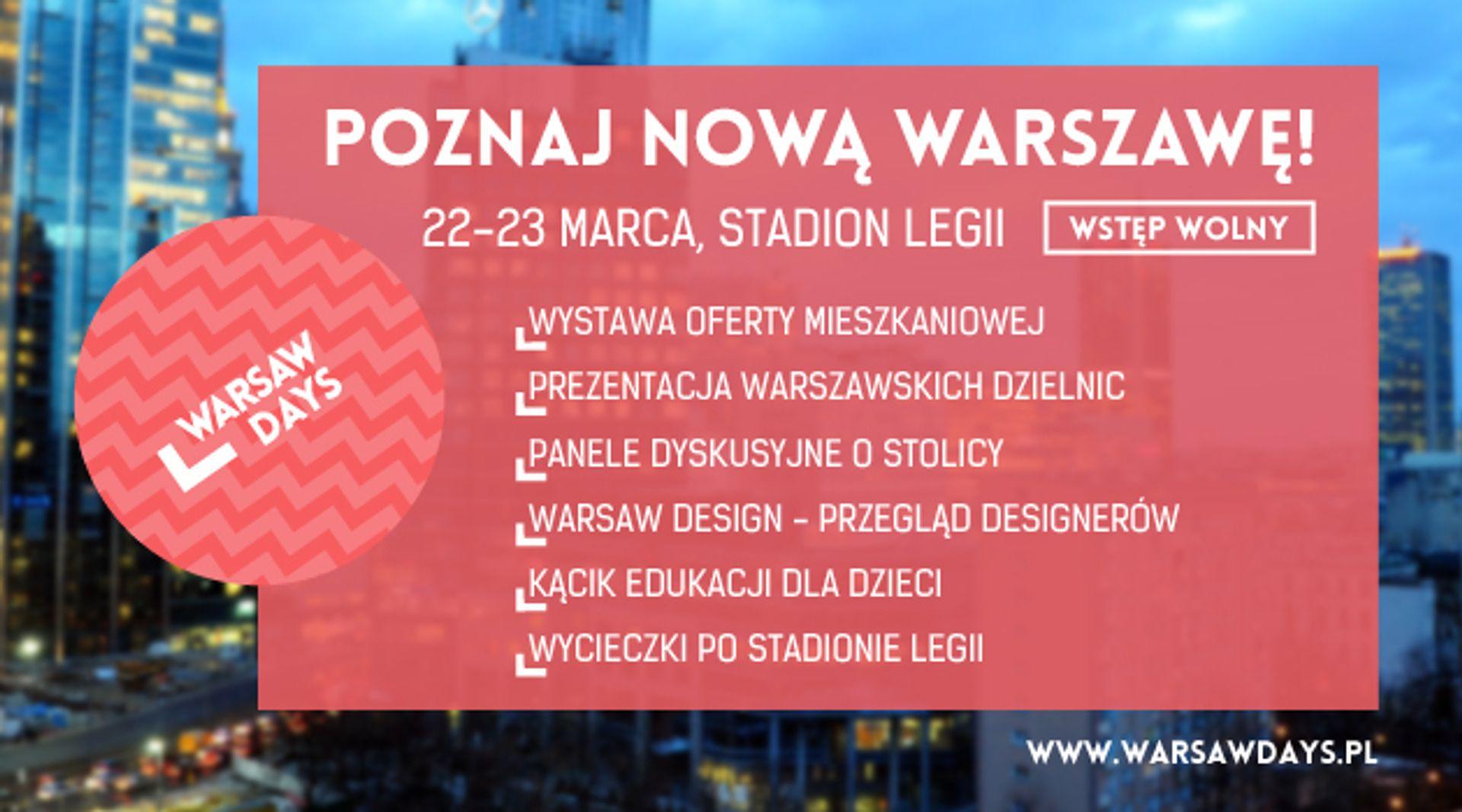 [Warszawa] Eko-Park Na Warsaw Days – specjalna promocja Apartamentów Grazioso