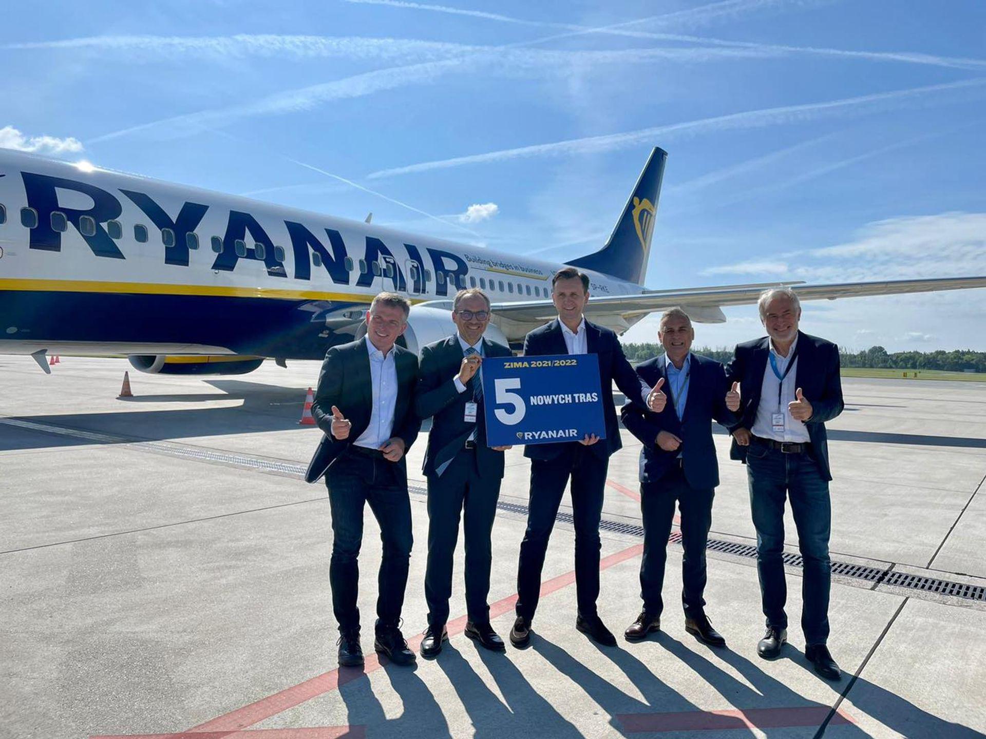 Ryanair ogłosił pięć nowych połączeń lotniczych z Wrocławia