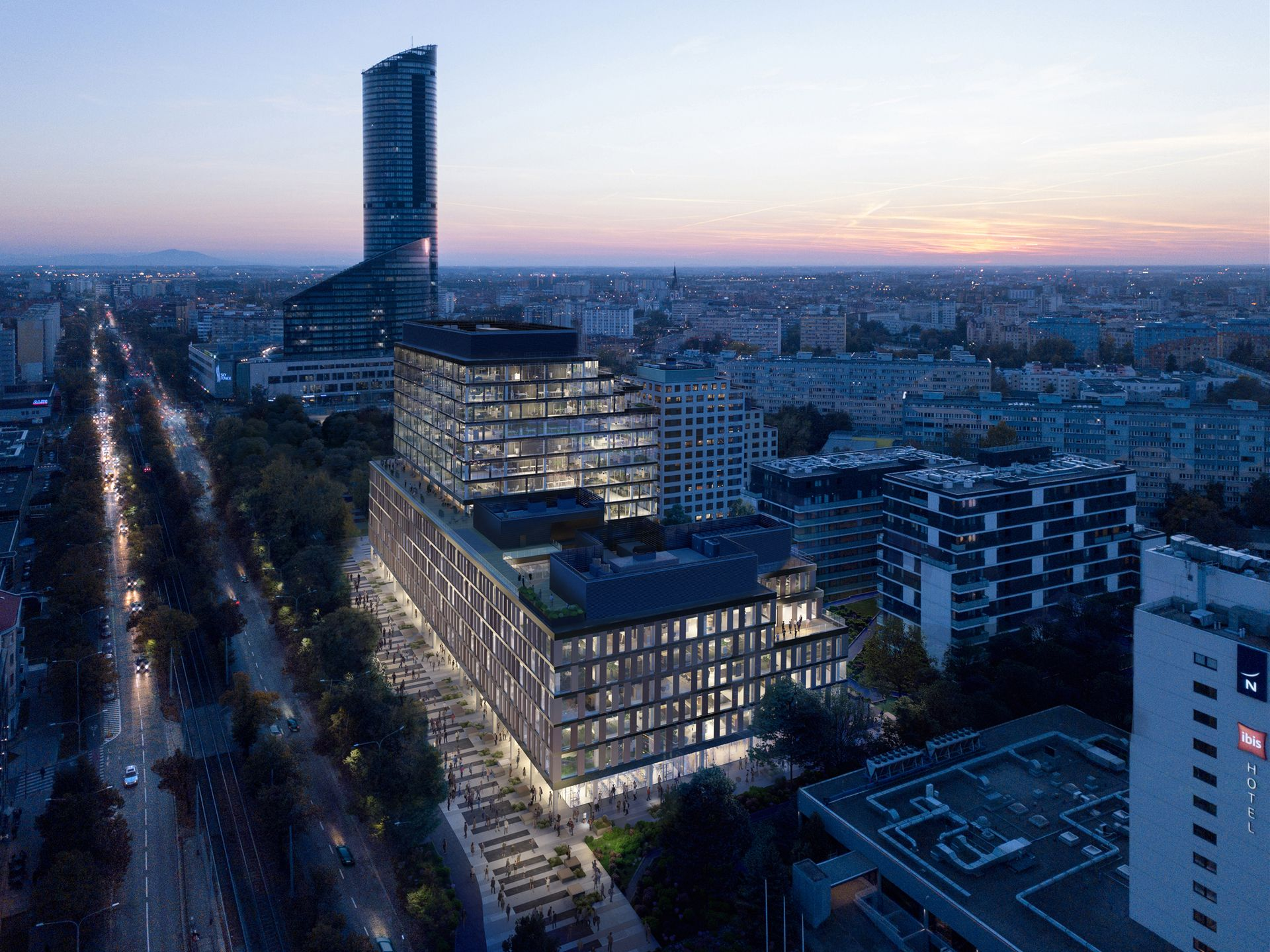 Wrocław: Trwa budowa 14-kondygnacyjnego biurowca MidPoint 71