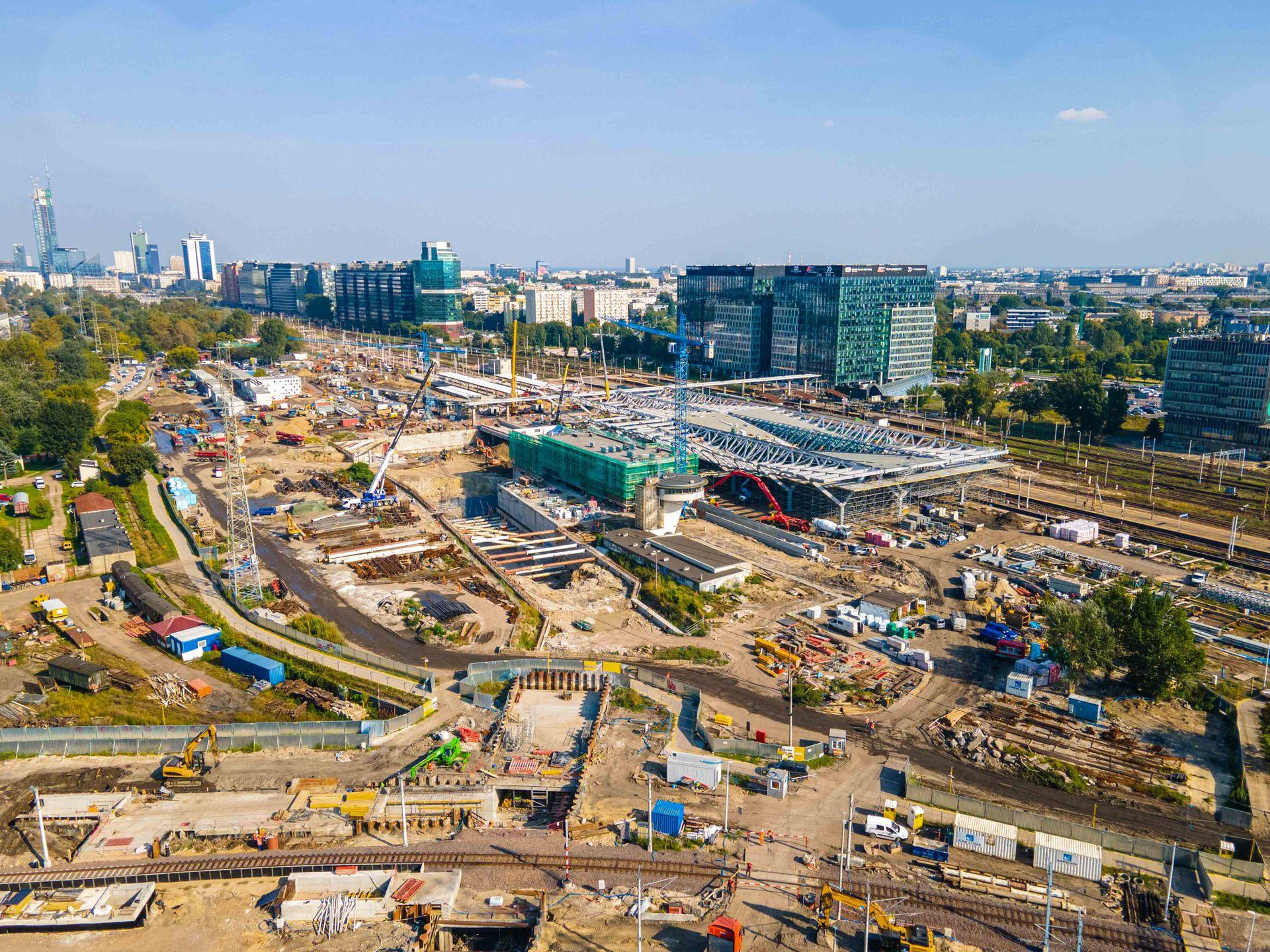 Trwają prace przy przebudowie dworca kolejowego Warszawa Zachodnia [FILM + ZDJĘCIA]