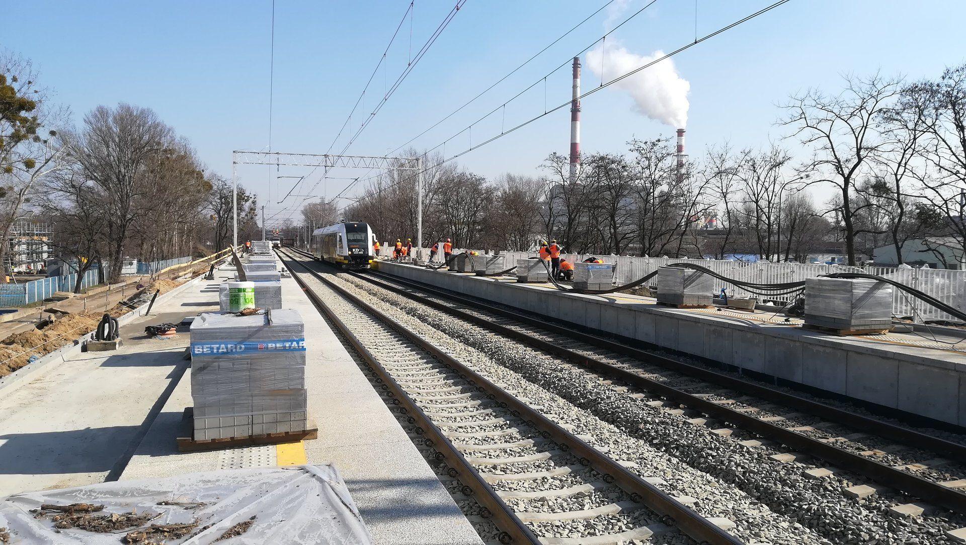 Zakończył się kolejny etap budowy przystanku kolejowego Wrocław Szczepin